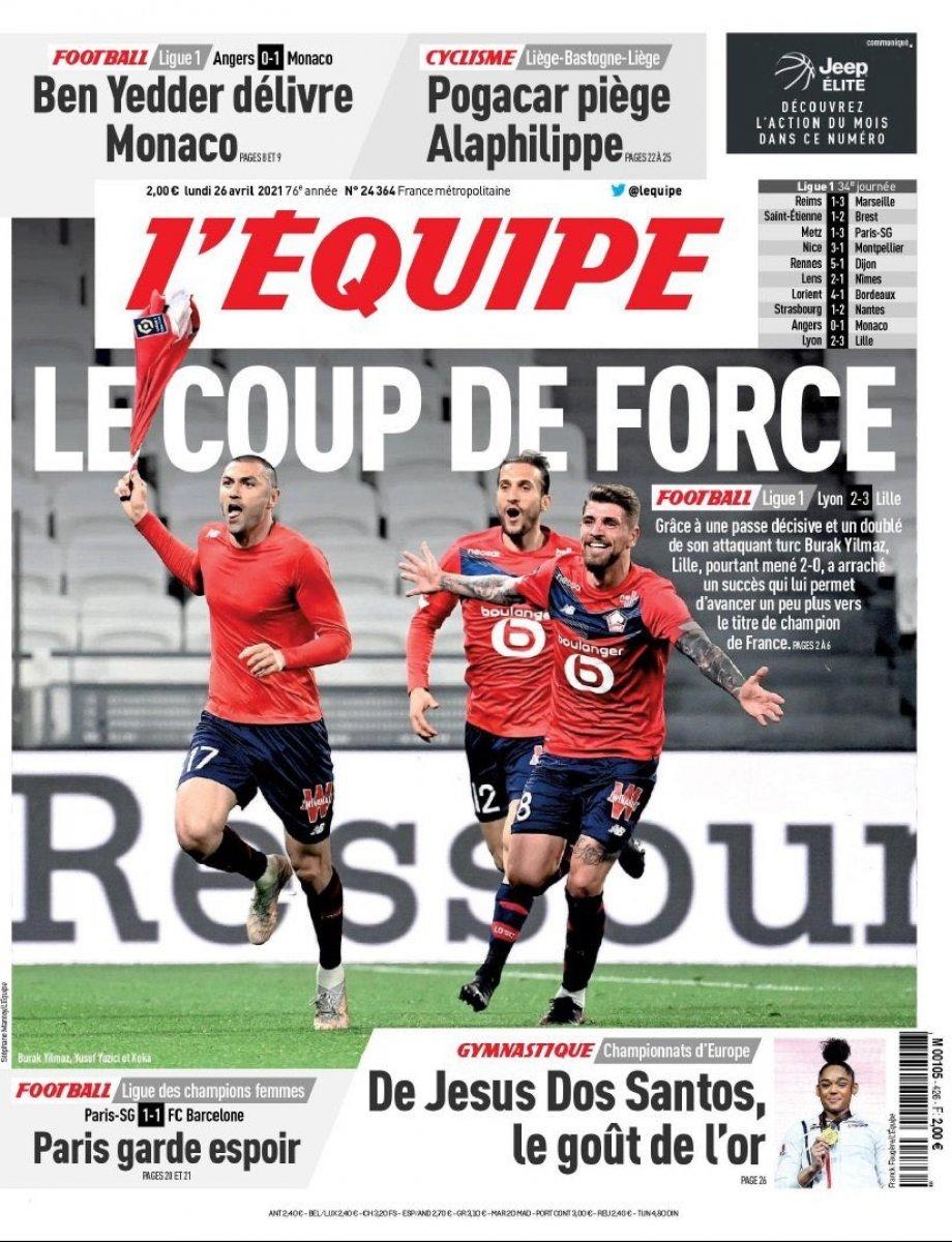 Burak Yılmaz ve Zeki Çelik yine Lille i galibiyete taşıdı #8