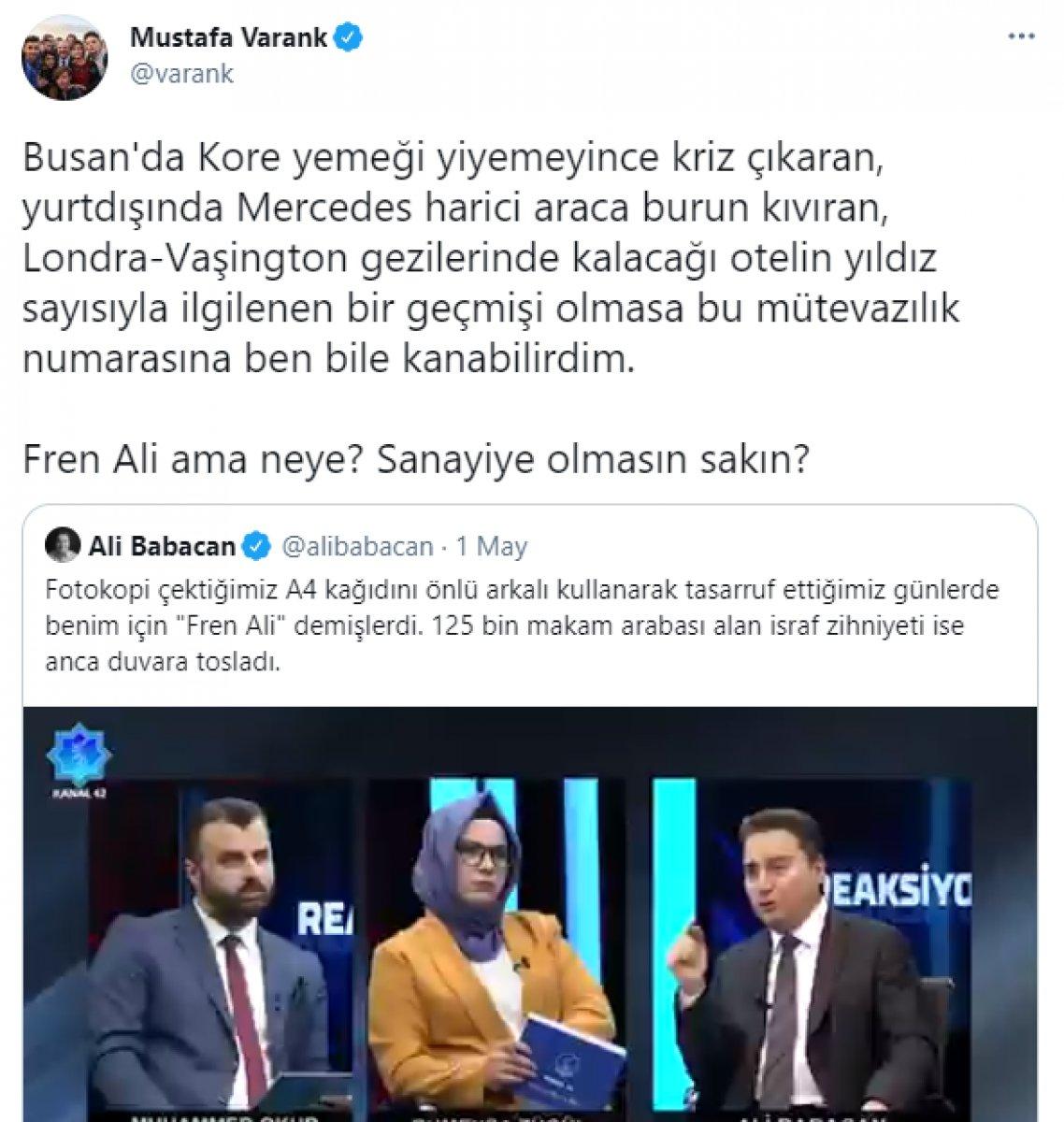 Mustafa Varank tan Ali Babacan a tasarruf cevabı #1