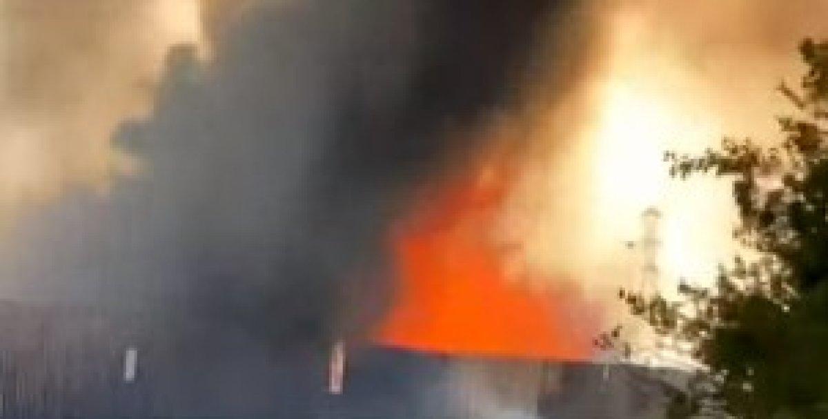 Afyonkarahisar daki enerji santralinde yangın #1