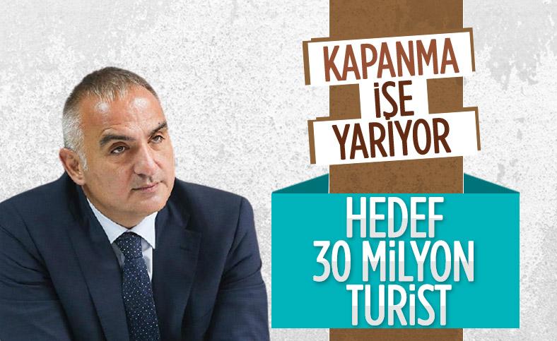 Mehmet Nuri Ersoy: Türkiye 30 milyon turist hedefini koruyor