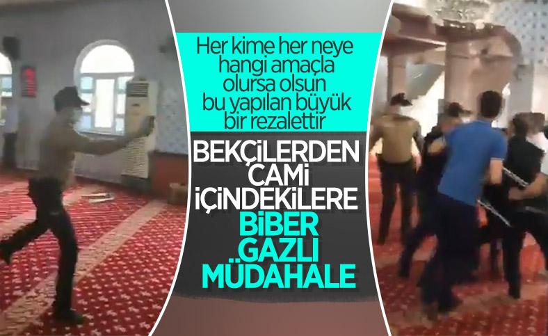 Gaziantep'te camide itikaf yapmak isteyenlere polis müdahalesi