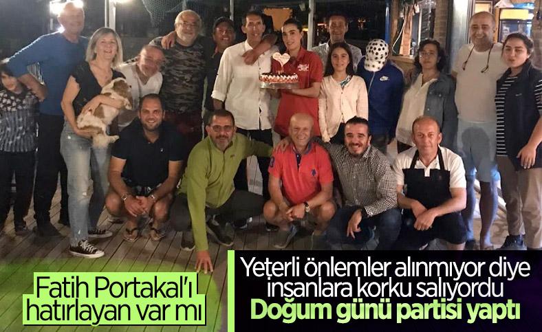 Fatih Portakal'dan tepki çeken doğum günü partisi