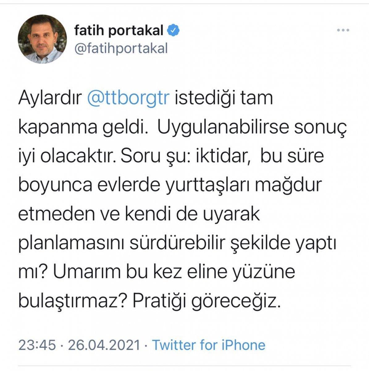 Fatih Portakal dan tepki çeken doğum günü partisi #2