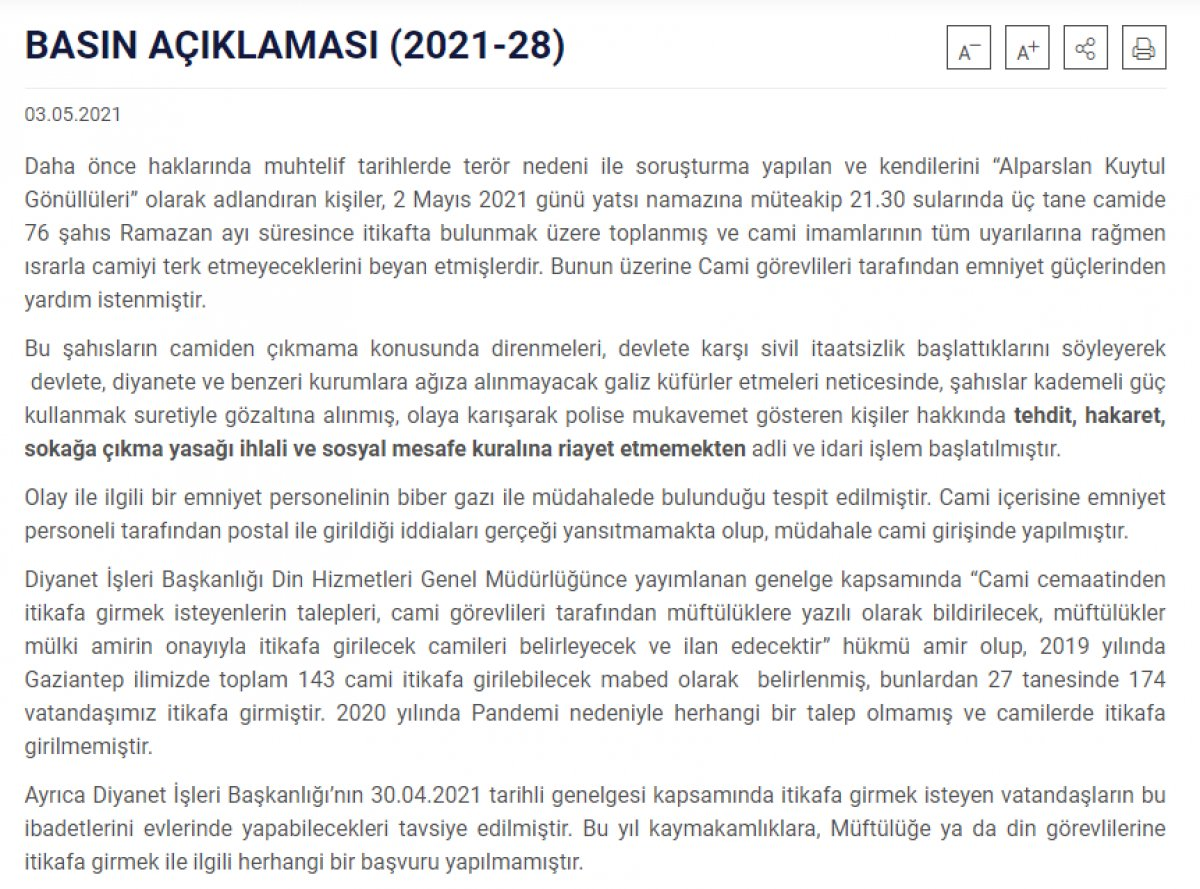 Gaziantep Valiliği: Biber gazı sıkan emniyet mensubu açığa alındı #1