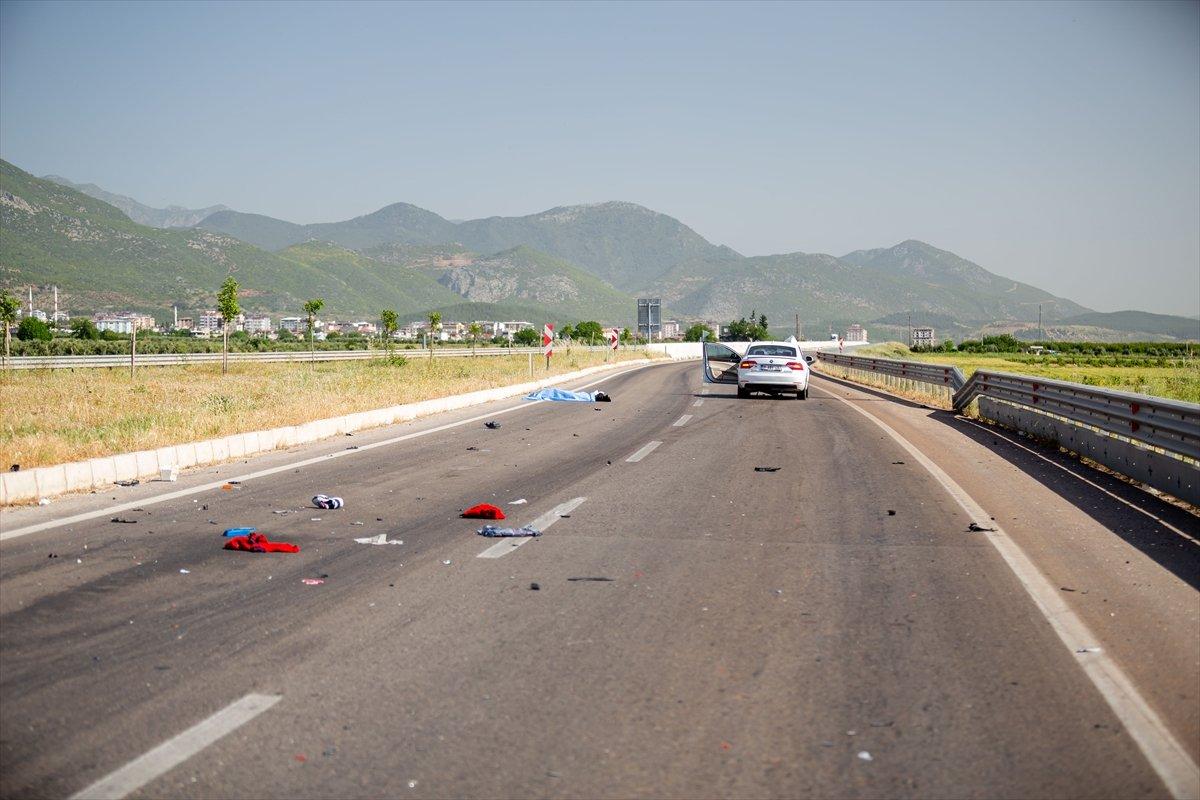 Hatay da otomobil ile motosiklet çarpıştı: 2 ölü #2