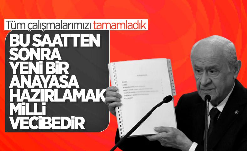 Devlet Bahçeli: Yeni bir anayasa hazırlamak milli vecibedir