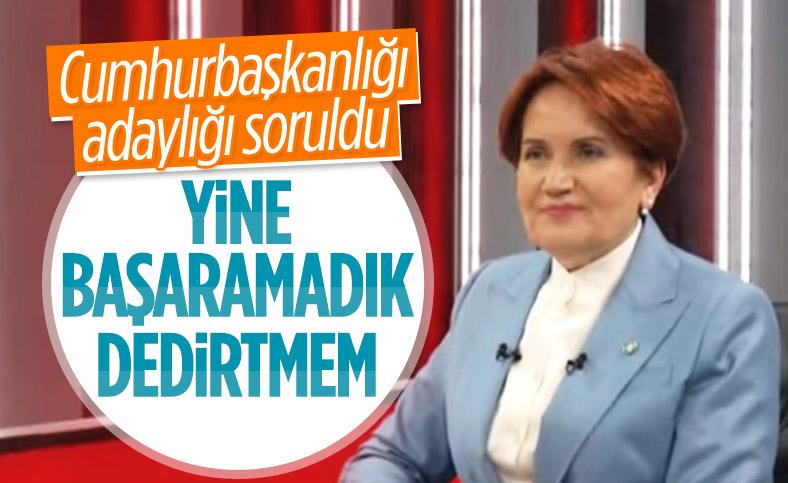 Meral Akşener'den cumhurbaşkanlığı adaylığı açıklaması