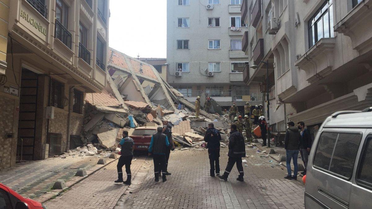 Zeytinburnu nda bina çöktü #1