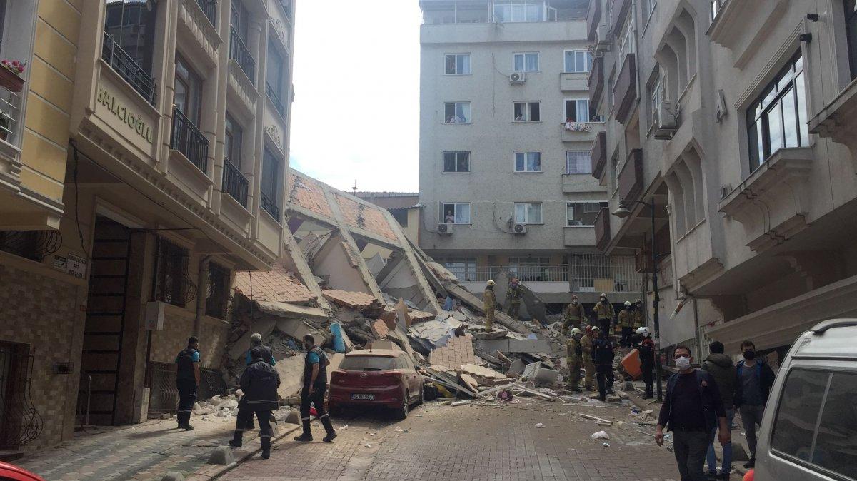 Zeytinburnu nda bina çöktü #2