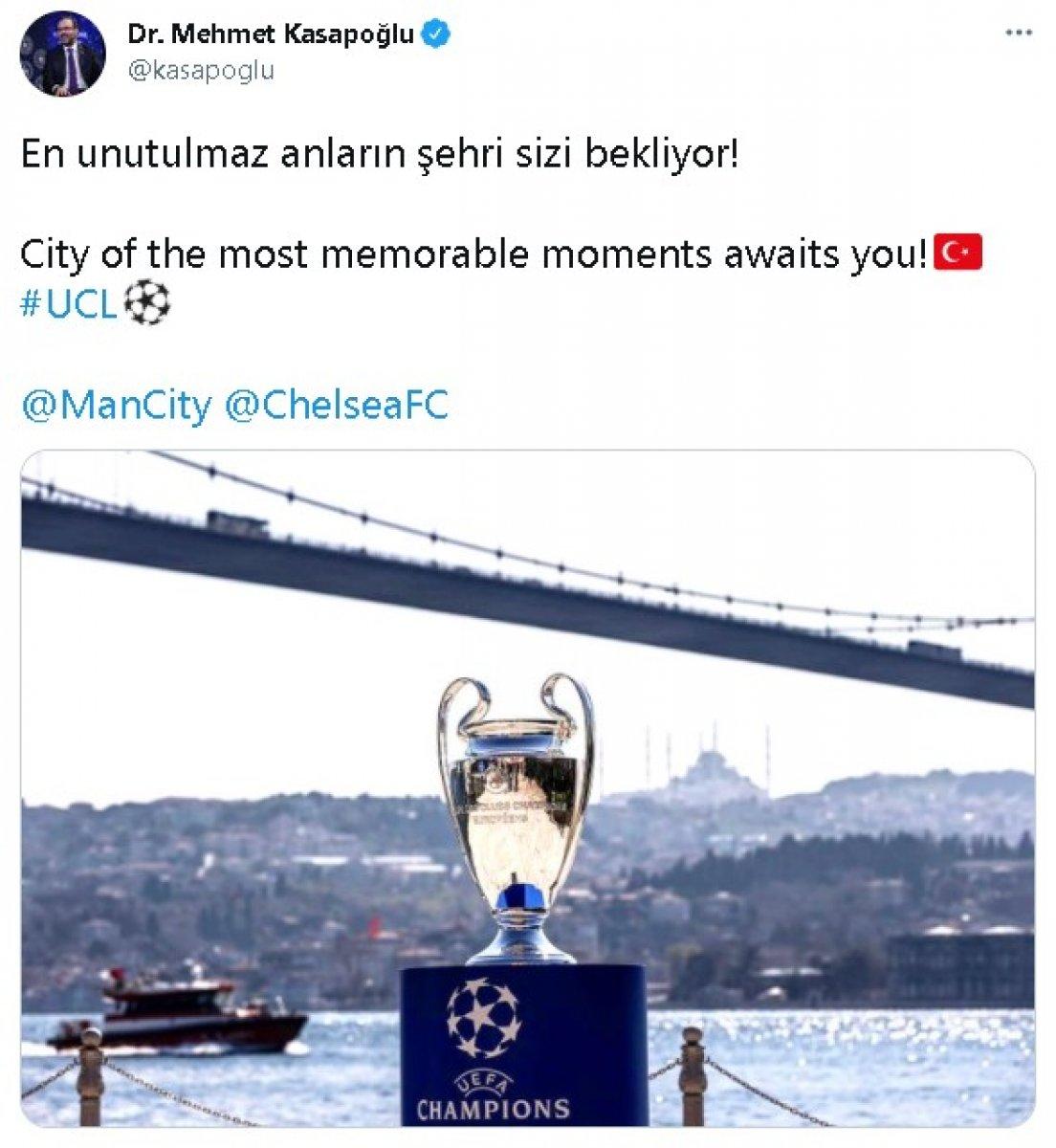 Bakan Kasapoğlu ndan Manchester City ve Chelsea'ye: En unutulmaz anların şehri sizi bekliyor #2