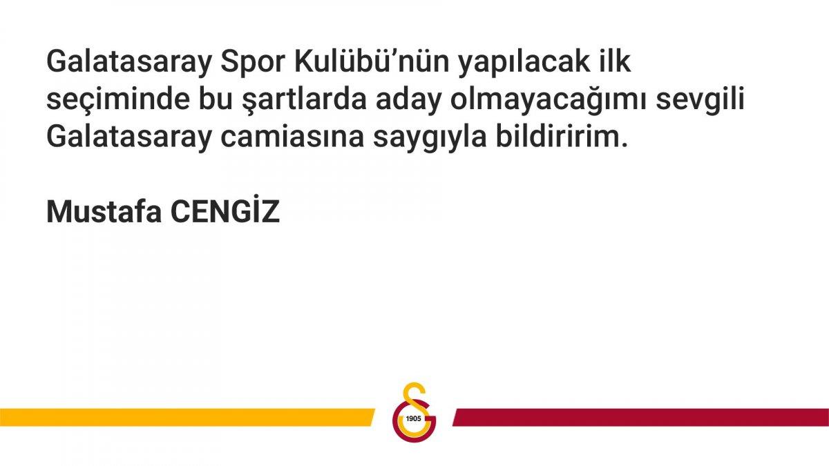 Mustafa Cengiz: Aday olmayacağım #2