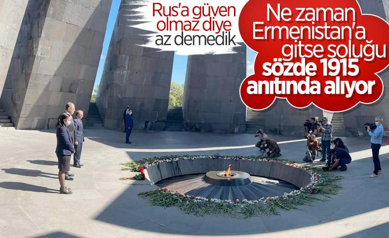 Rusya Dışişleri Bakanı Lavrov'dan, sözde Ermeni soykırımı anıtına ziyaret