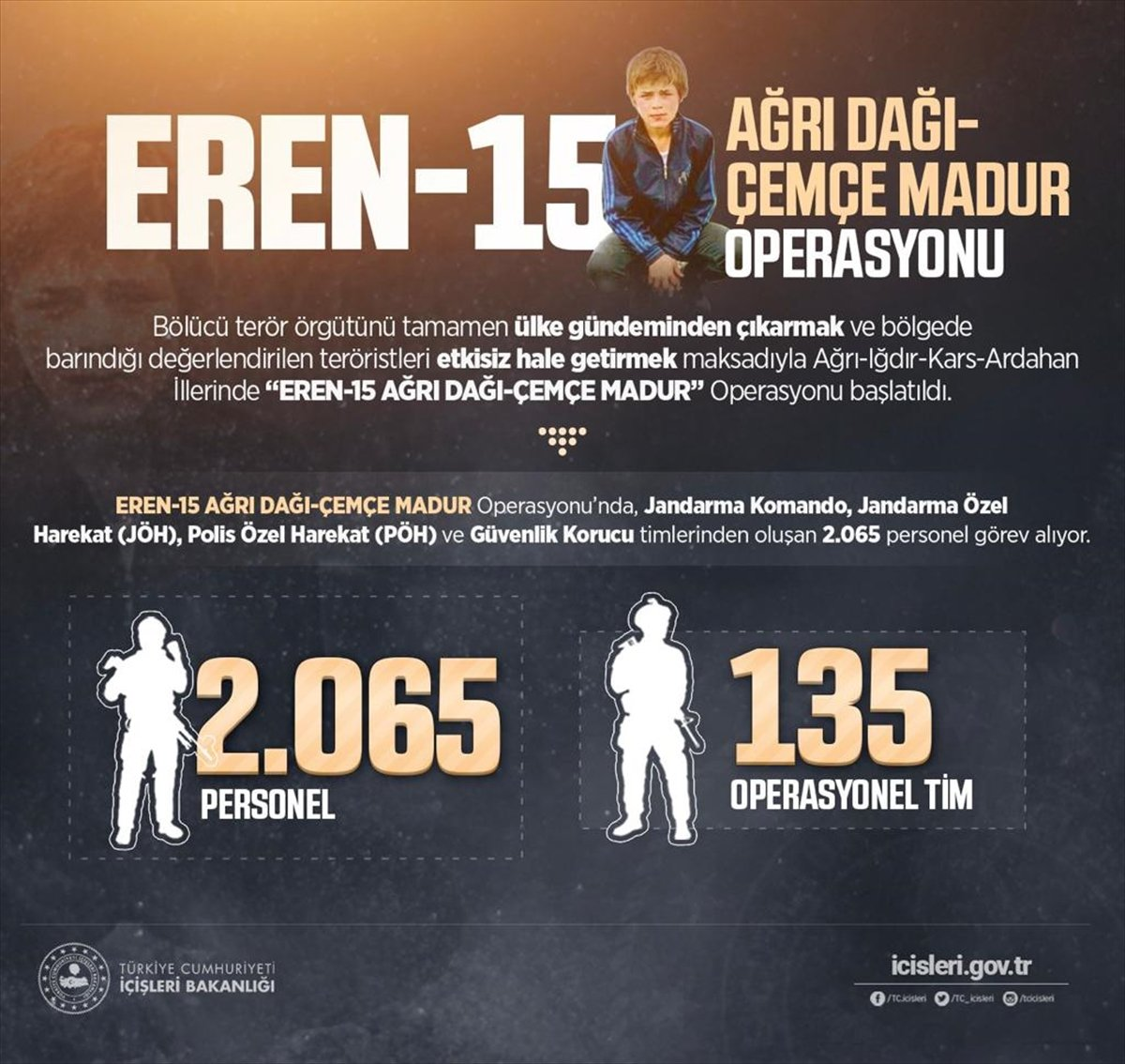Eren-15 Ağrı Dağı-Çemçe Madur Operasyonu  başlatıldı #9