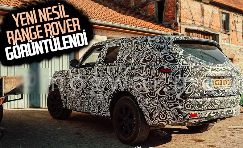 Yeni nesil Range Rover'dan yeni görüntüler geldi