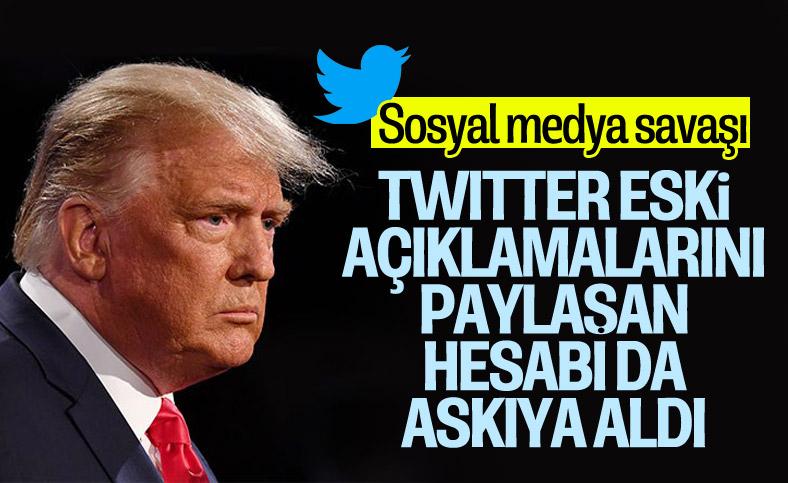 Twitter, Trump'ın açıklamalarını yayınlayan hesabı askıya aldı