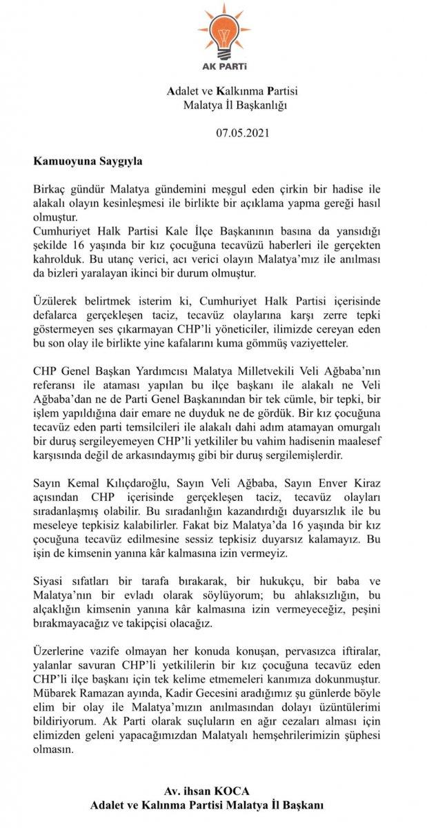 CHP de bir tecavüz vakası daha #3