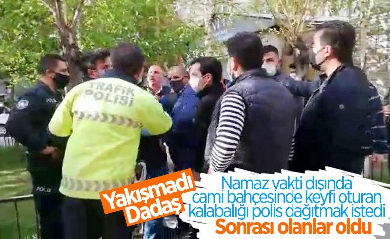 Erzurum'da polisle vatandaş arasında cami gerginliği