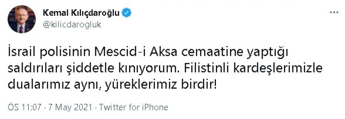 Kılıçdaroğlu ndan İsrail e kınama #1