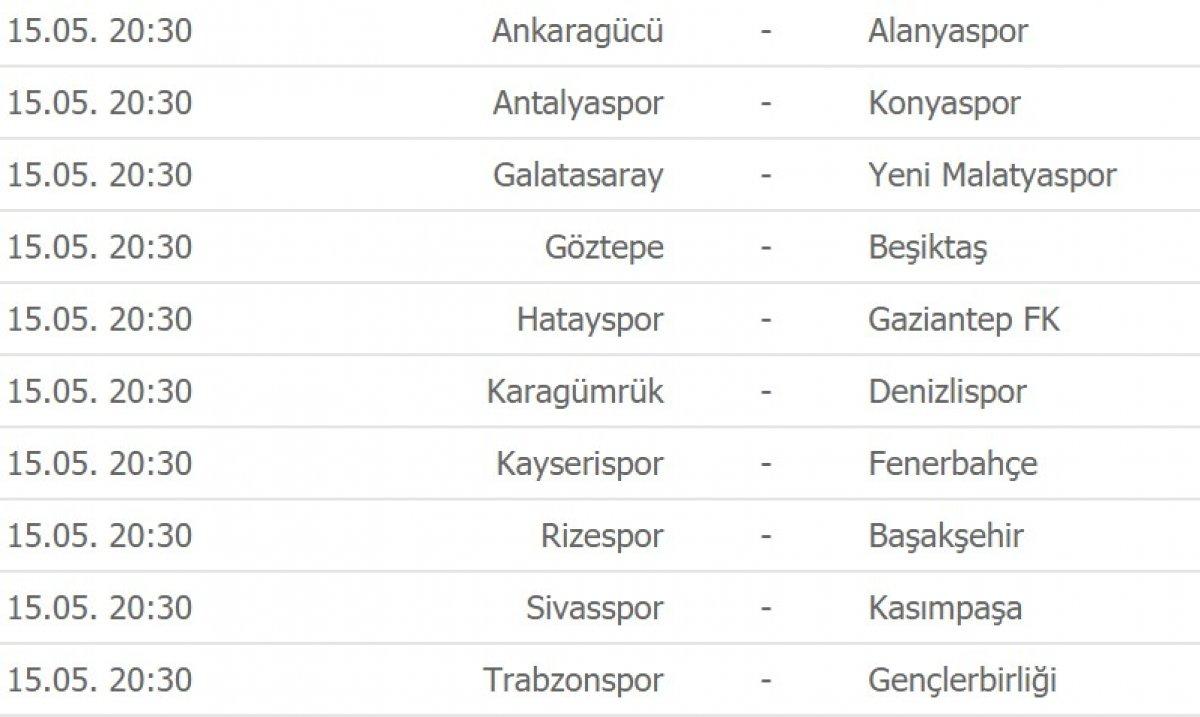 Süper Lig de puan durumu ve gelecek haftanın fikstürü #3