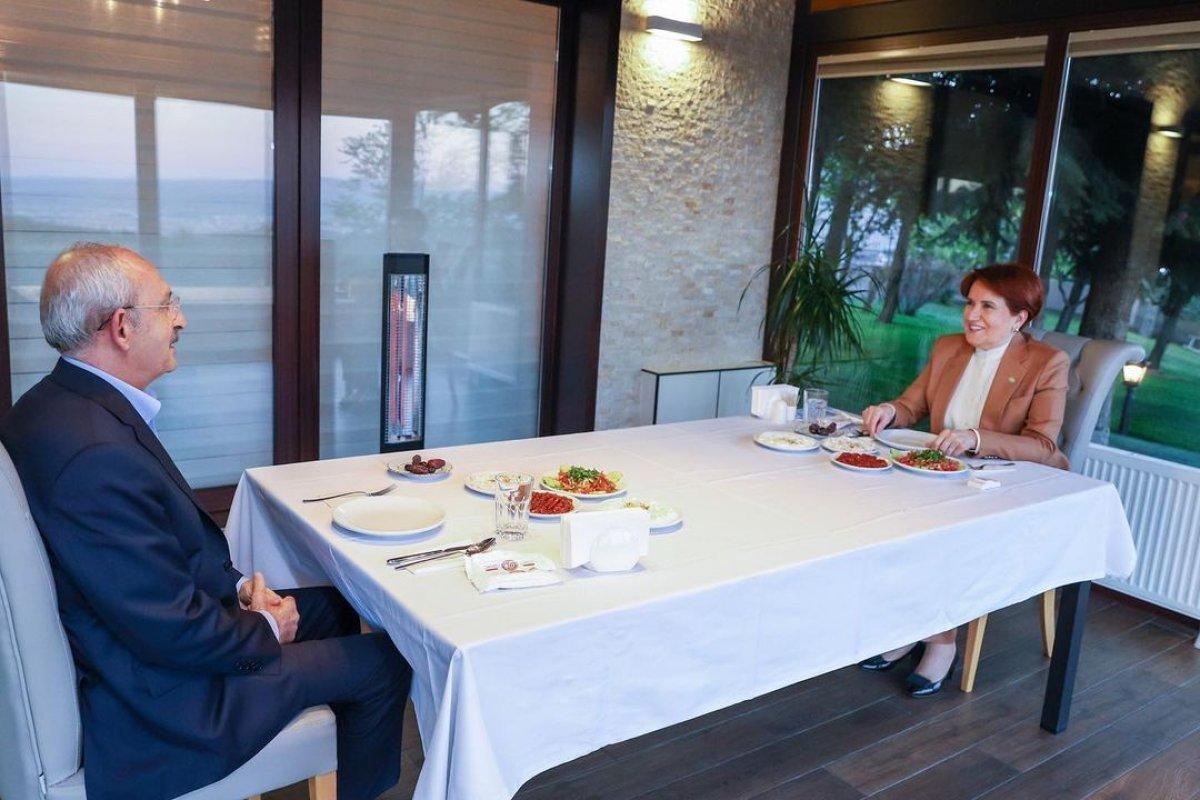 Meral Akşener ile Kemal Kılıçdaroğlu iftarda bir araya geldi #5