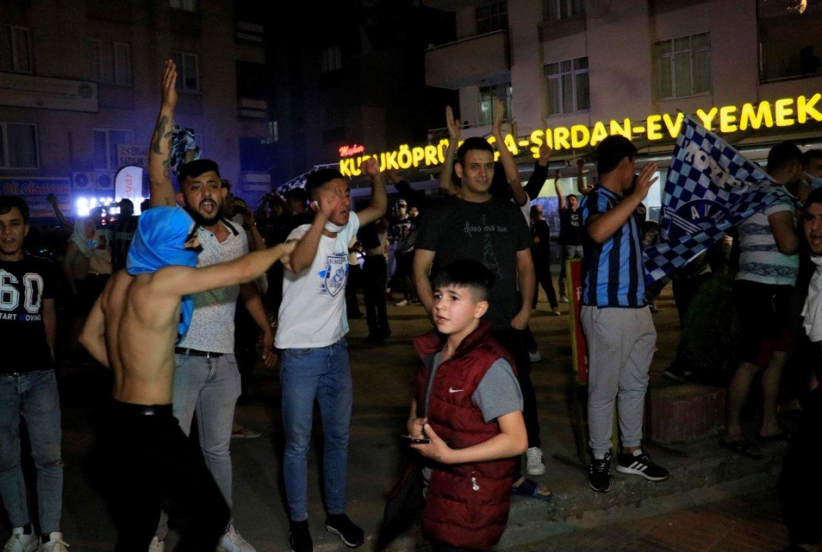 Adana Demirspor un 26 yıl sonra gelen şampiyonluğu kentte coşkuyla kutlandı #8