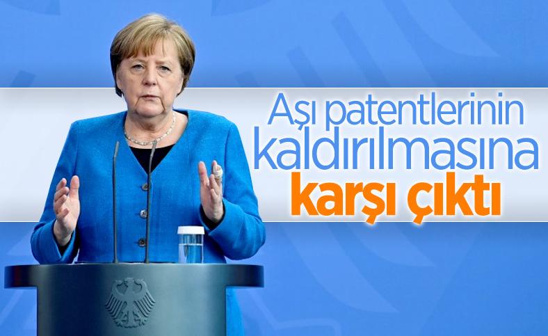 Merkel: Aşı patentlerinin kaldırılmasına karşıyım