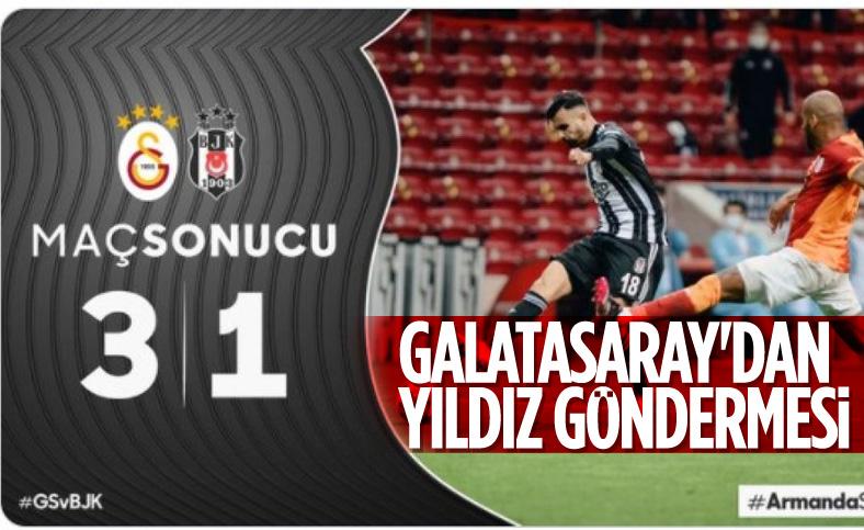 Galatasaray'dan Beşiktaş'a logolu gönderme