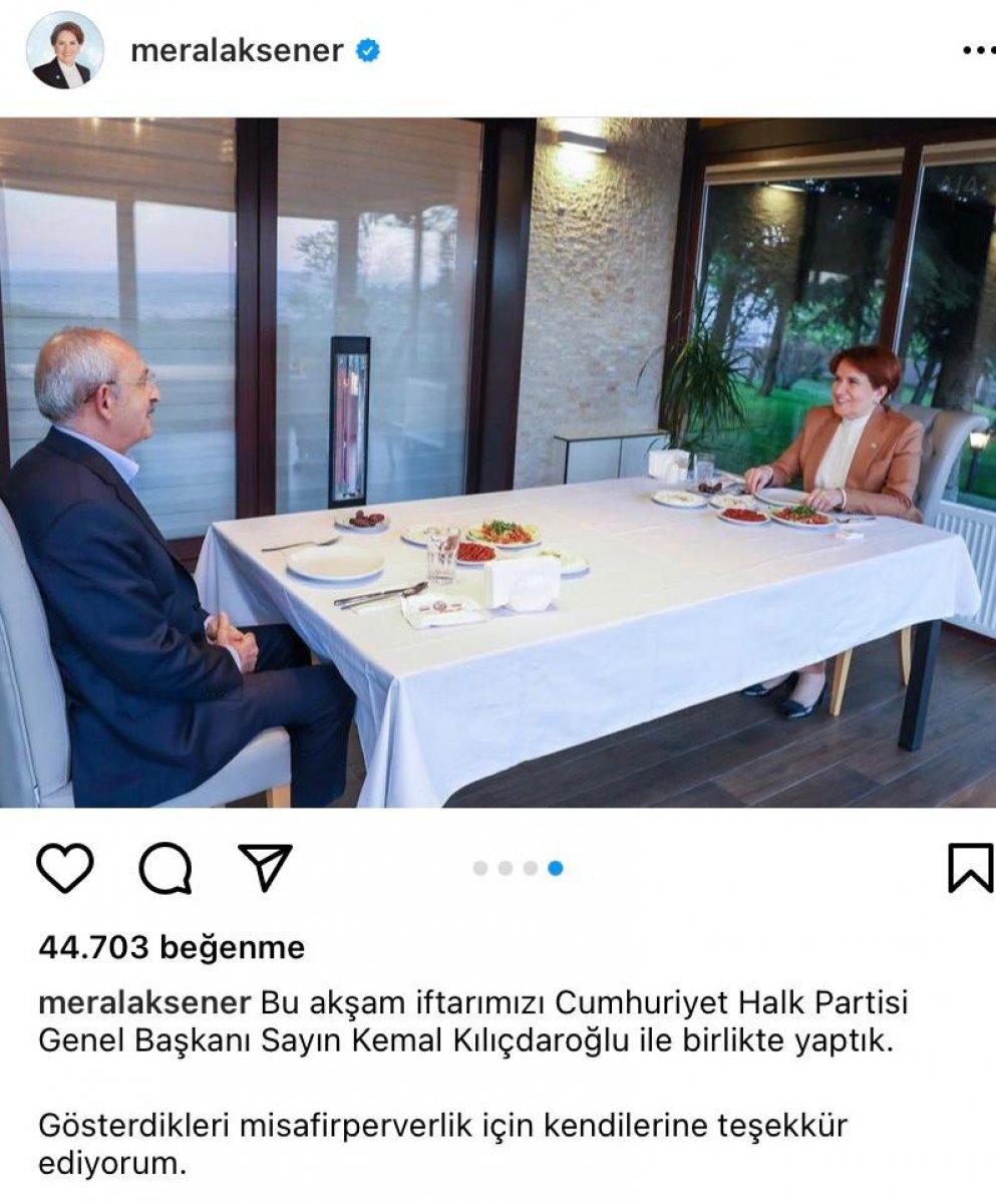 Meral Akşener ile Kemal Kılıçdaroğlu iftarda bir araya geldi #1