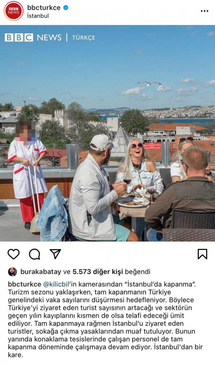 BBC Türkçe, tam kapanmada turistlere hizmet eden personele dikkat çekti #1