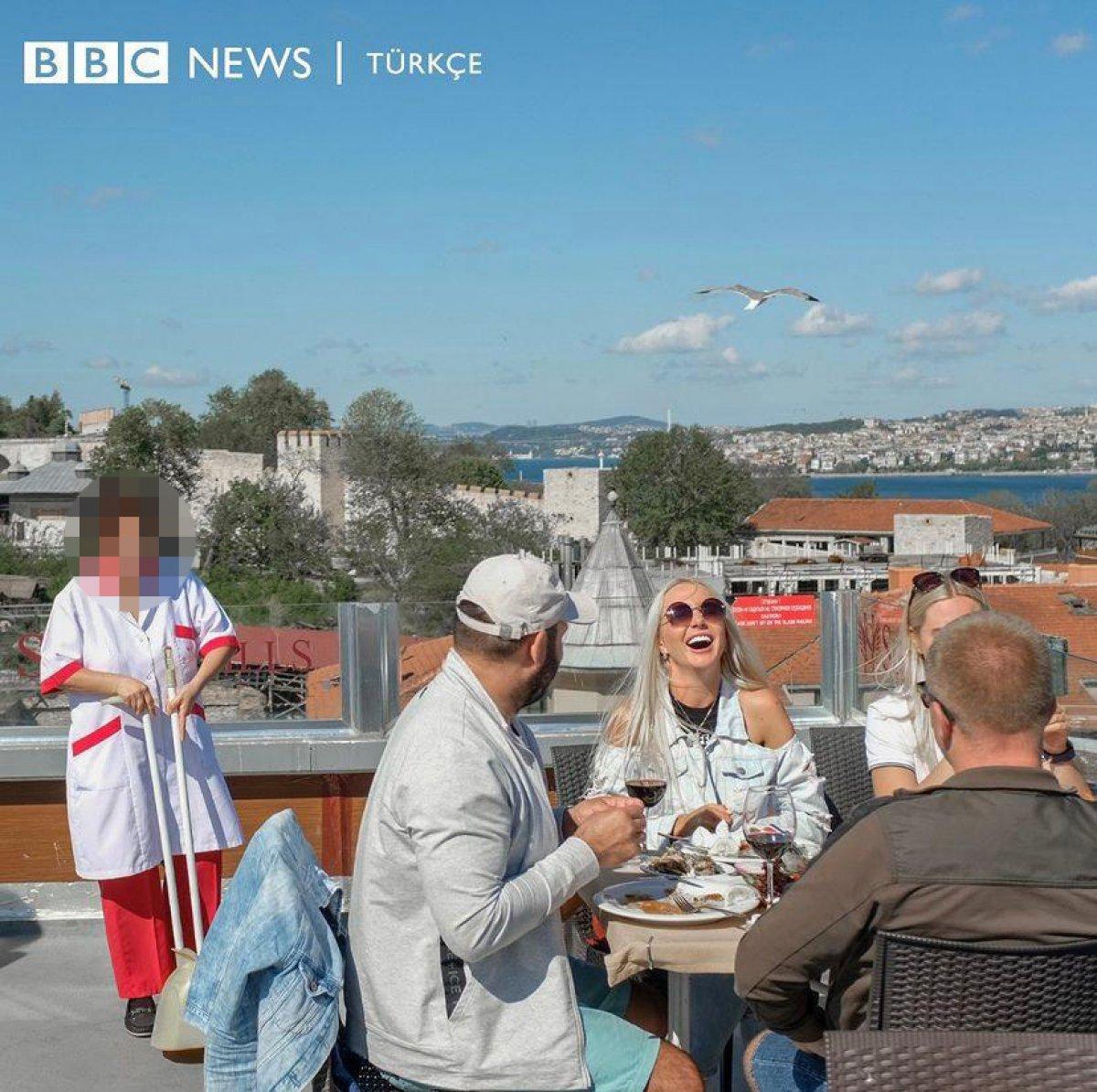 BBC Türkçe, tam kapanmada turistlere hizmet eden personele dikkat çekti #2