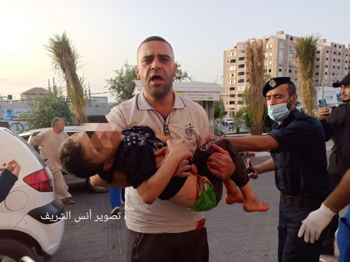 Filistin de 3 ü çocuk 9 kişi İsrail tarafından öldürüldü  #4