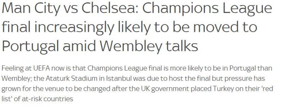 İngiliz basını: Şampiyonlar Ligi finali İstanbul da oynanmayacak #2