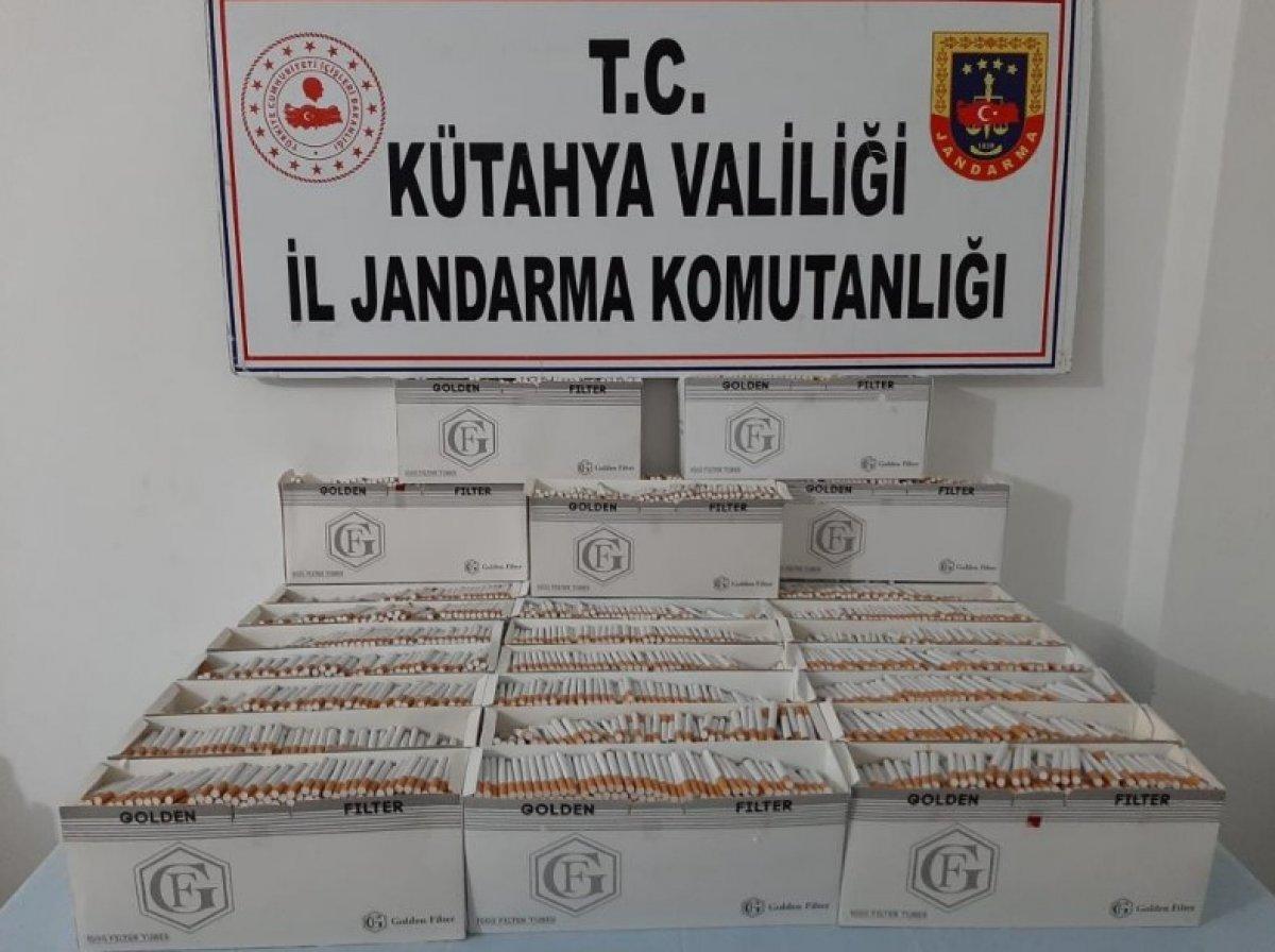 Kütahya'da 30 bin adet bandrolsüz sigara ele geçirildi #1