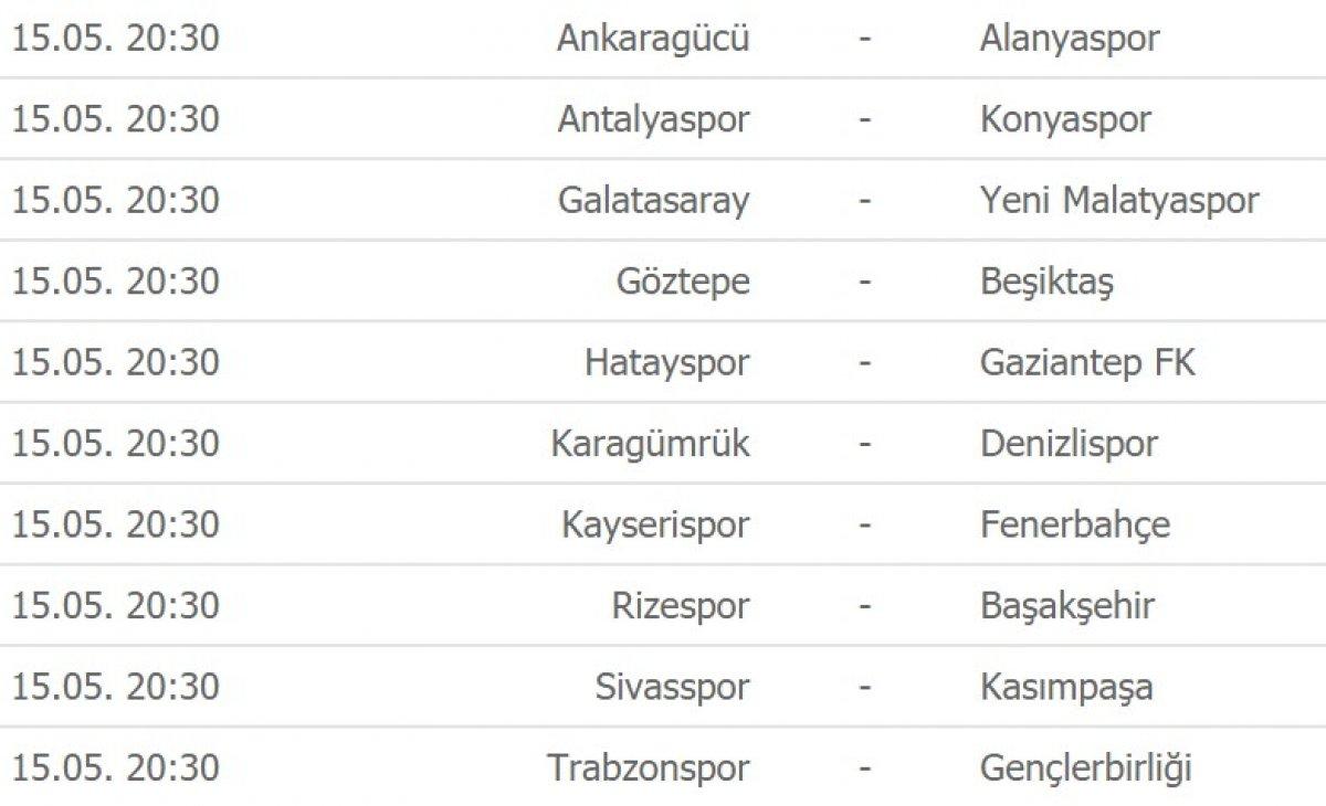 Süper Lig de zirve yarışı ve son haftanın programı #2