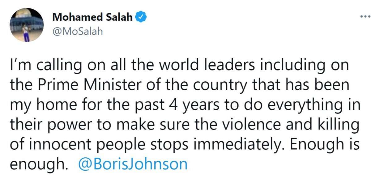 Muhammed Salah tan Filistin paylaşımı: Yeter artık #2