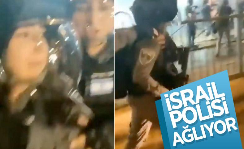 Filistinlilere müdahale eden İsrailli kadın polis ağladı