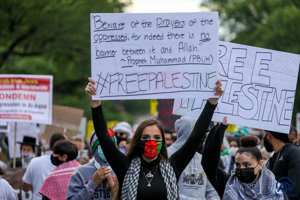 ABD de Filistinli Müslümanlar için destek yürüyüşü #7