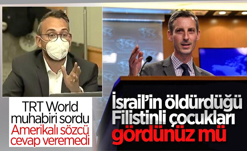 ABD Dışişleri Sözcüsü, TRT muhabirinin Filistin sorusu karşısında çaresiz kaldı