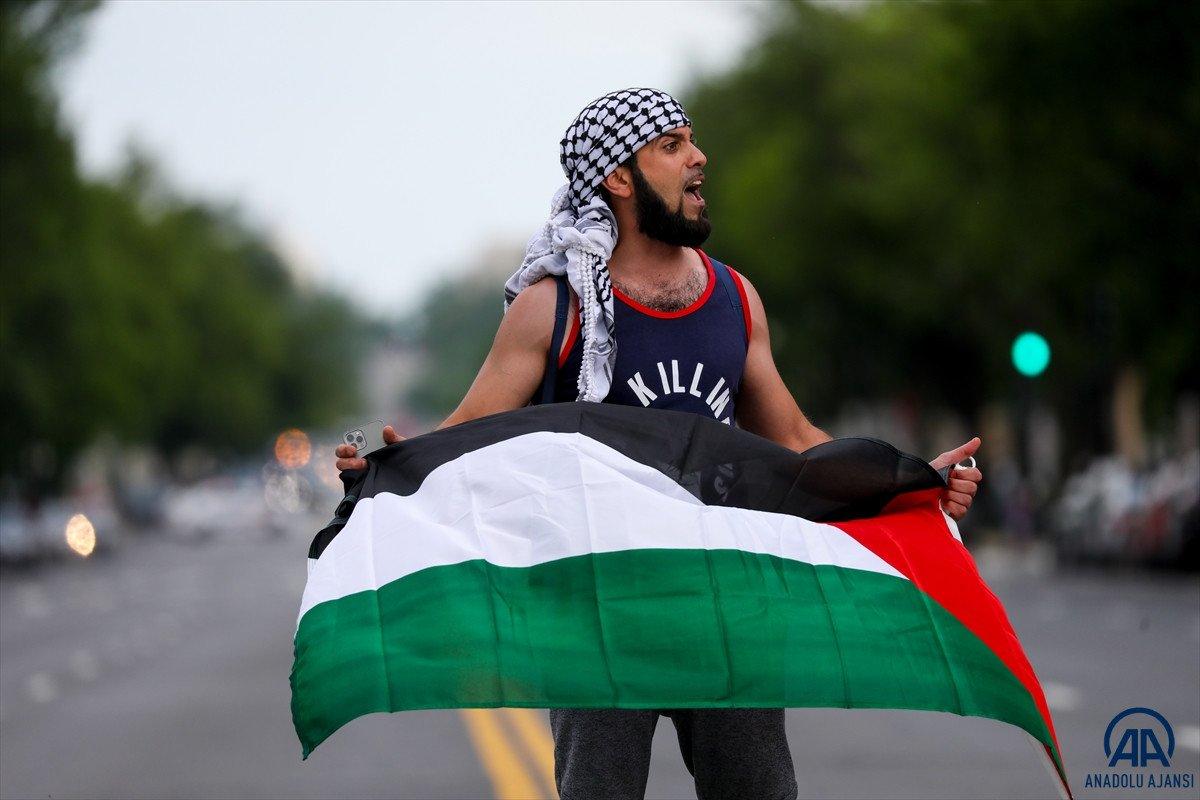 ABD de Filistinli Müslümanlar için destek yürüyüşü #1