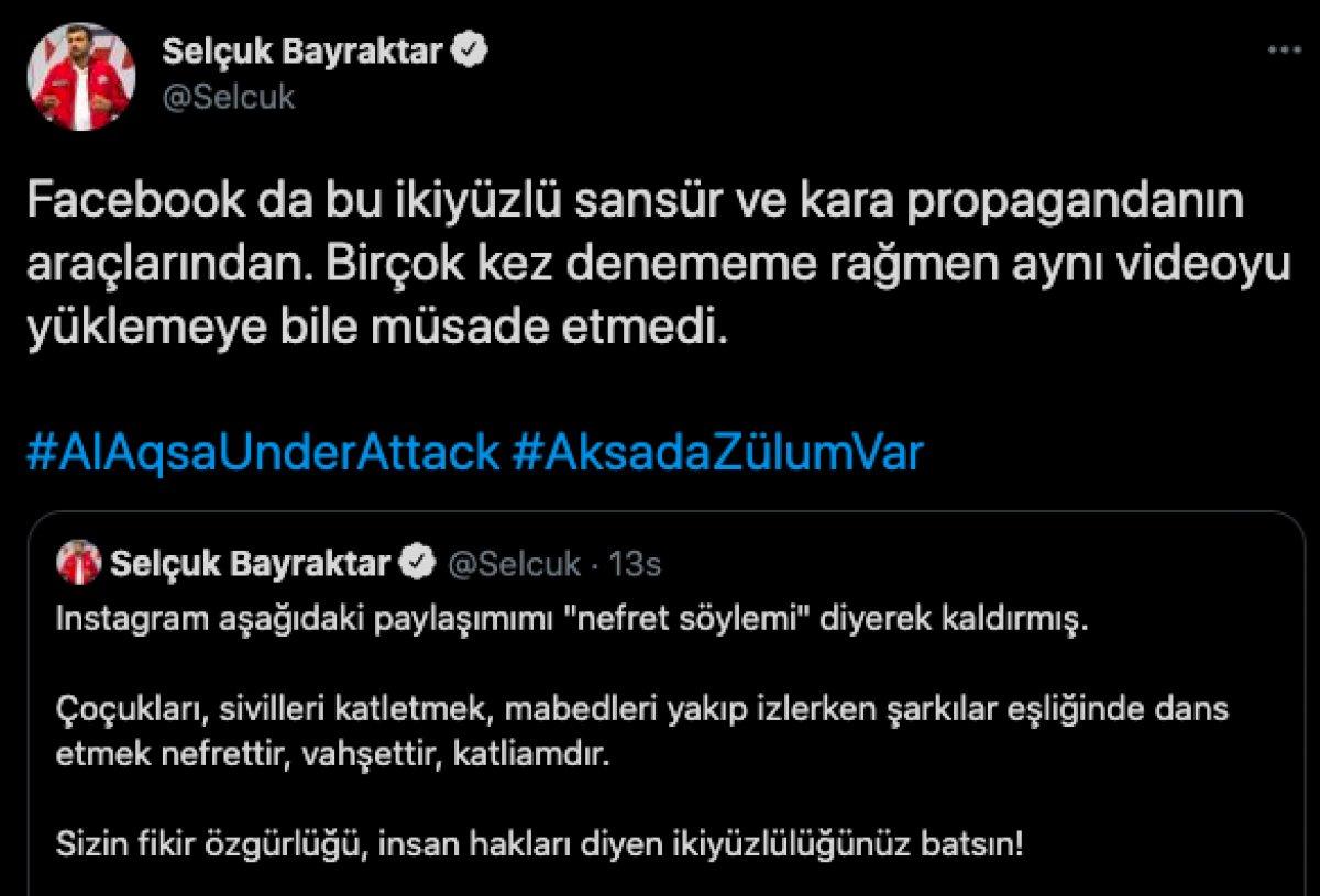 Selçuk Bayraktar ın Mescid-i Aksa paylaşımları engellendi #2
