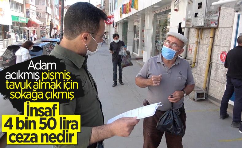 Kırıkkale'de güzergah değiştiren kişiye ceza kesildi