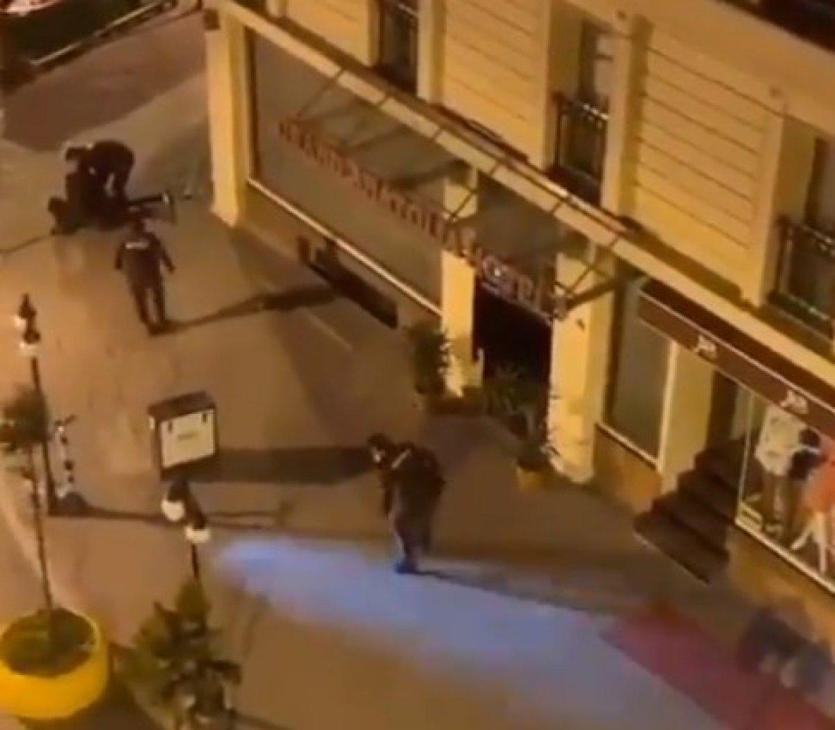 İstanbul da bekçilerin sert müdahalesi kameraya yansıdı #2