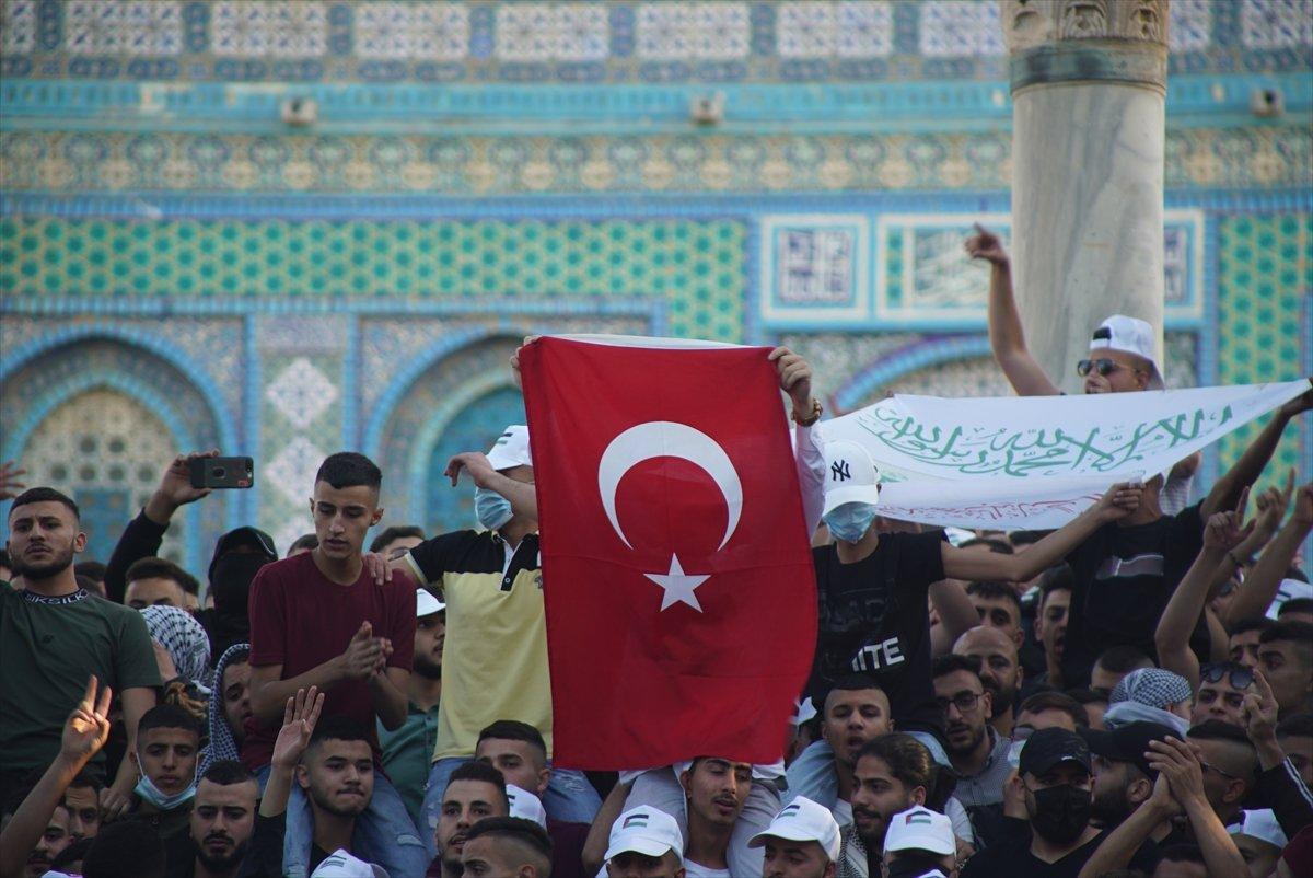 Mescid-i Aksa da Ramazan Bayramı namazı kılındı #1