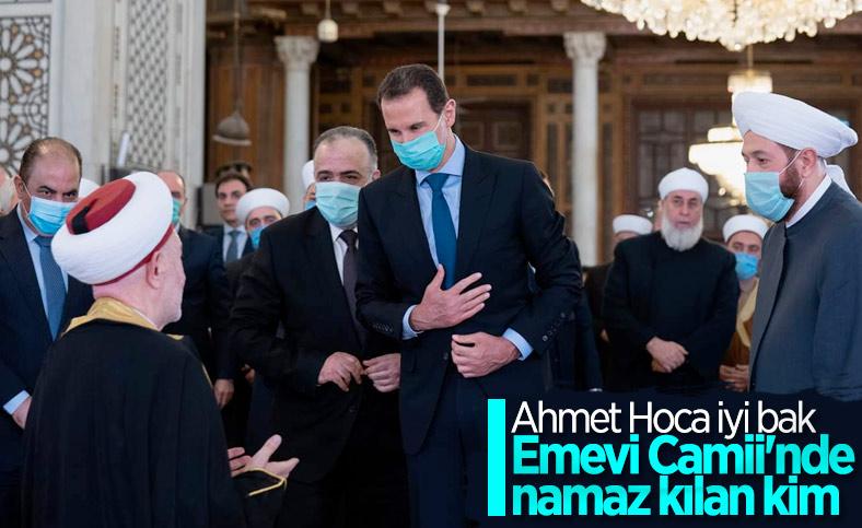 Esad, Ramazan Bayramı namazını Emevi Camii'nde kıldı