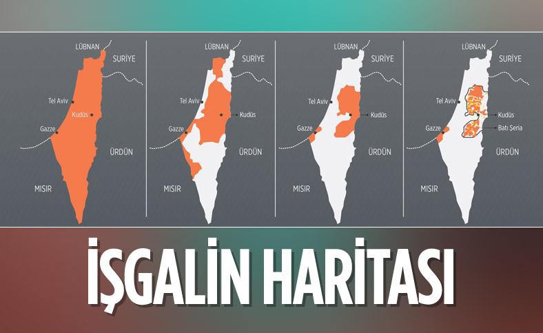 Filistin'i yavaş yavaş yutan İsrail'in işgal hikayesi