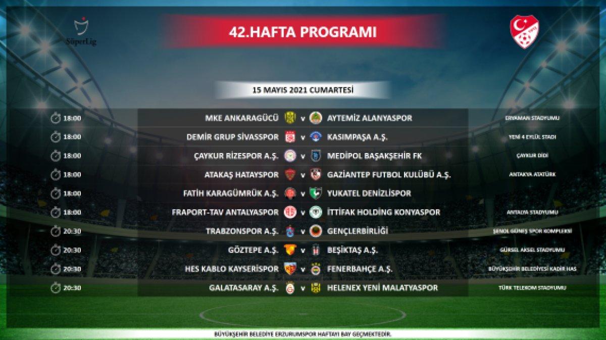 Süper Lig de maç saatleri değişti #1