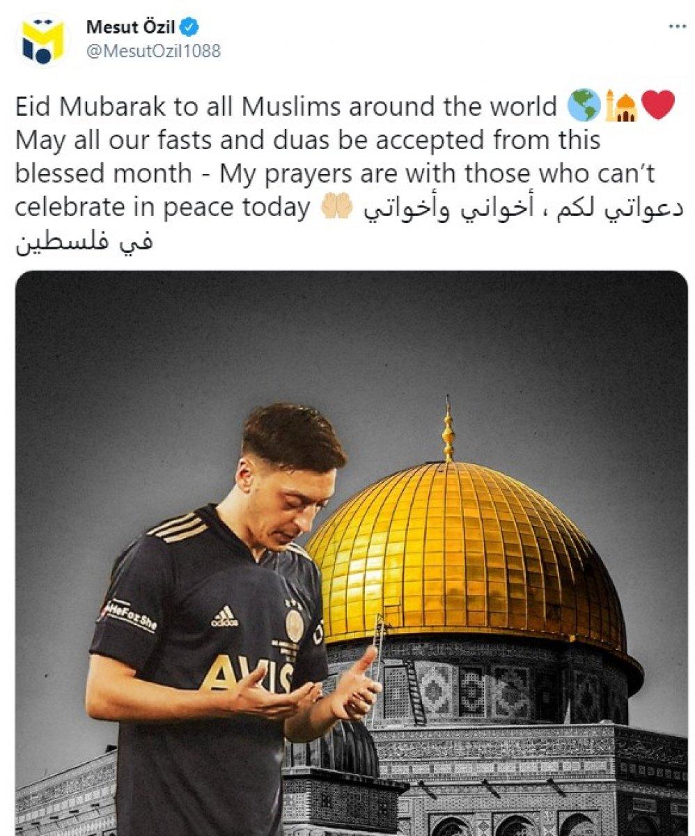Mesut Özil: Dualarım bugünü barış içinde kutlayamayanlarla #1