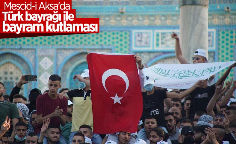Mescid-i Aksa'da Ramazan Bayramı namazı kılındı