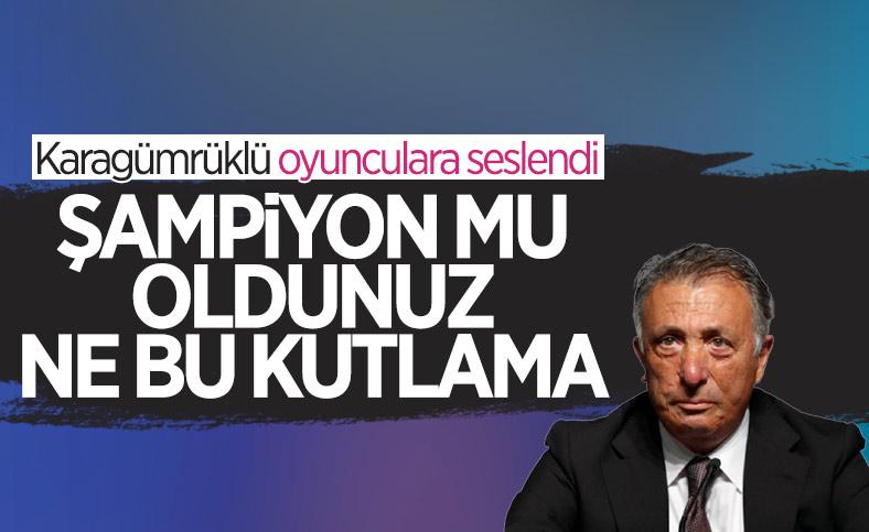 Ahmet Nur Çebi'den tepki: Şampiyon mu oldunuz kutladınız