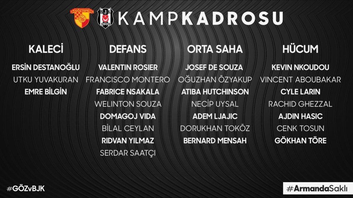 Beşiktaş ın Göztepe maçı kadrosu açıklandı #2